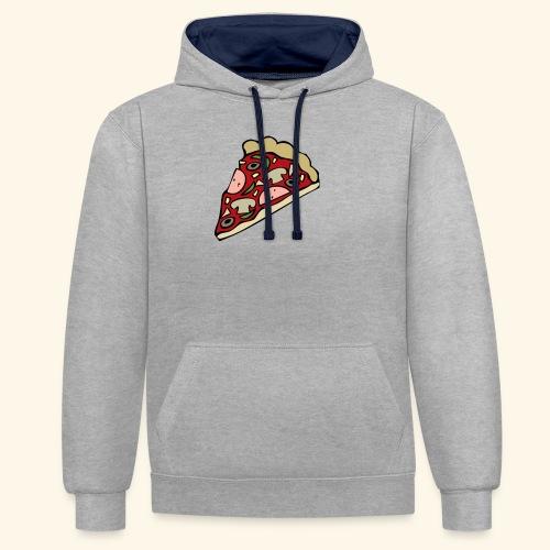 Pizza - Sweat-shirt contraste