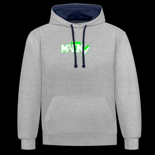 MaickyTv Grün - Kontrast-Hoodie
