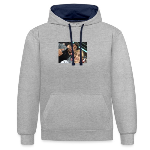 a pic with youtuber - Contrast Colour Hoodie