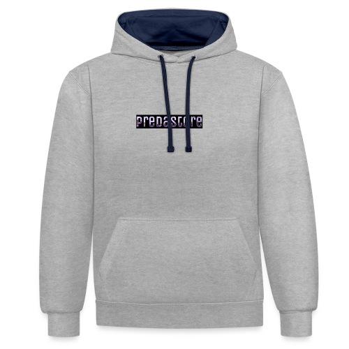 PredaStore Original Logo Design - Contrast Colour Hoodie