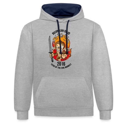 Fire monkey - Contrast Colour Hoodie