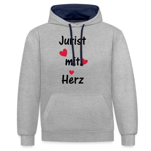 Jurist mit Herz - Kontrast-Hoodie