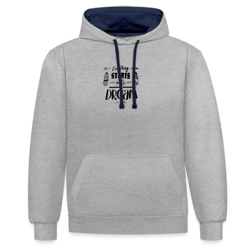Starts with a Dream - Sweat-shirt contraste