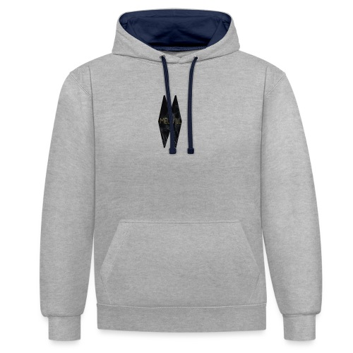 MELWILL black - Contrast Colour Hoodie