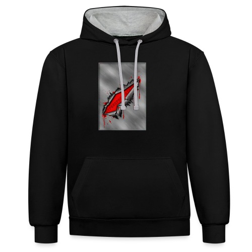 Metal Crack Hyperspace Potato - Contrast Colour Hoodie