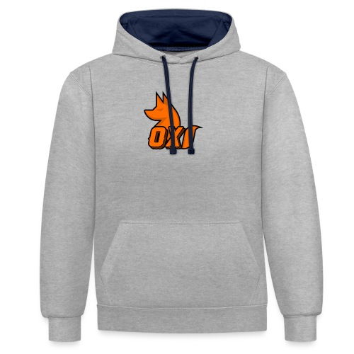 Fox~ Design - Contrast Colour Hoodie