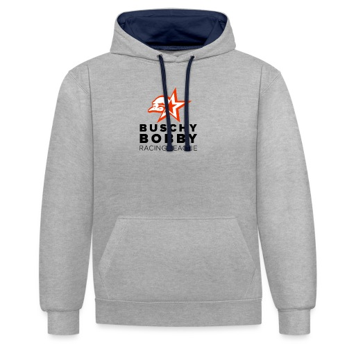 Buschy Bobby Racing League on white - Contrast Colour Hoodie