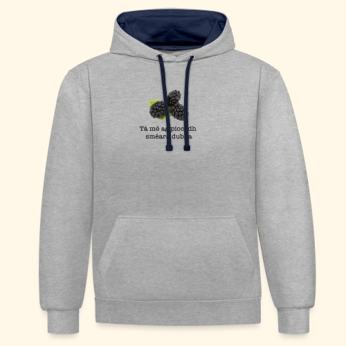 Picking blackberries - Contrast Colour Hoodie
