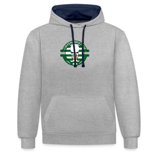 Green brigade - Contrast Colour Hoodie