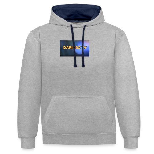 DARIUSZ TV - Bluza z kapturem z kontrastowymi elementami