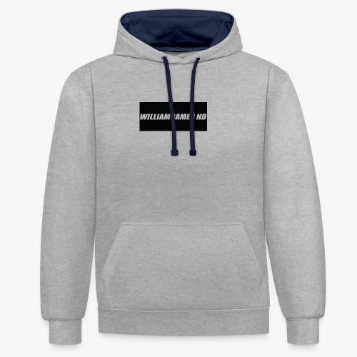 william shirt logo - Contrast Colour Hoodie