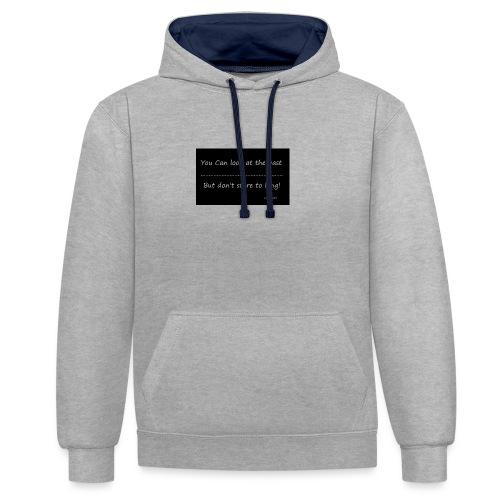 past - Contrast hoodie