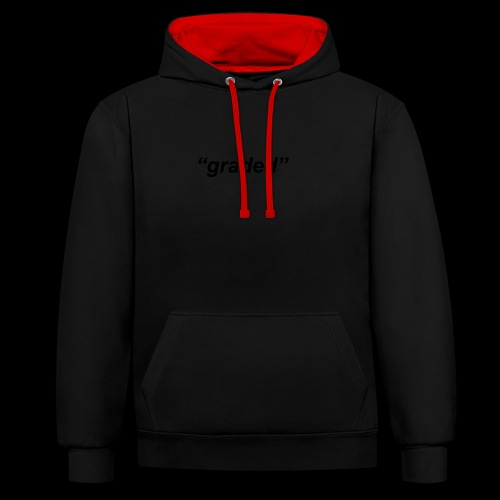 Simple Logo, Graded - Contrast Colour Hoodie