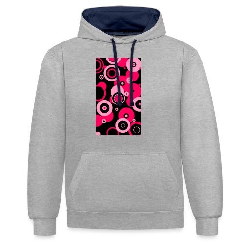 Dream in pink - Kontrast-Hoodie