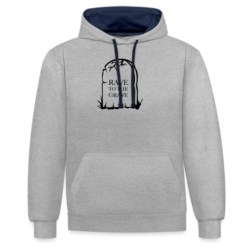Rave to the Grave - Contrast Colour Hoodie