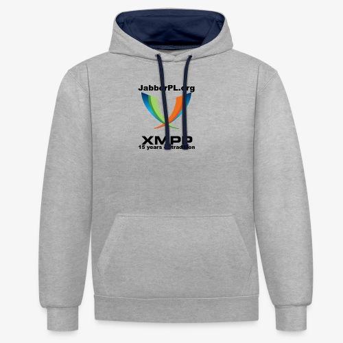 JabberPL.org XMPP - Contrast Colour Hoodie