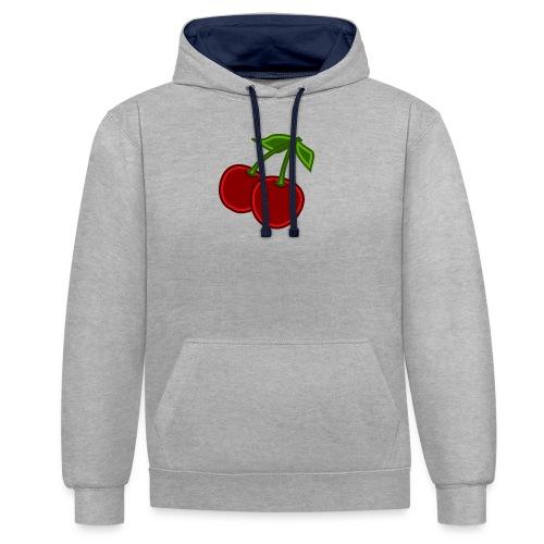 cherry - Bluza z kapturem z kontrastowymi elementami