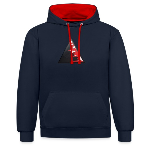 Climb high as a mountains to achieve high - Contrast Colour Hoodie