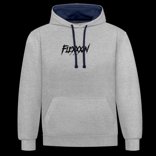 FleXXXin Logo - Felpa con cappuccio bicromatica