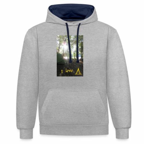camping - Contrast hoodie