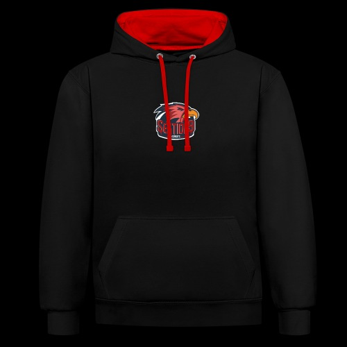 Sektion9 logo Rot - Kontrast-Hoodie