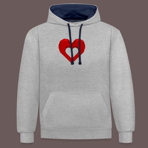 Heart Illusion - Kontrast-hættetrøje