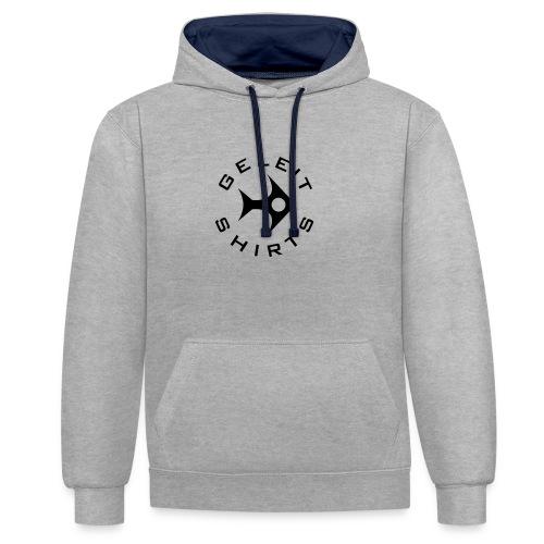 Geleit Shirts Logo - Kontrast-Hoodie