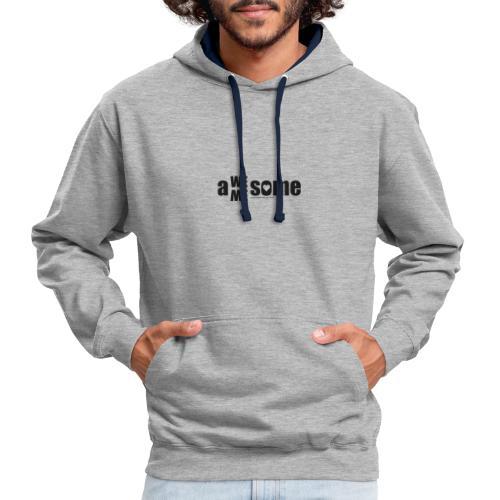 awesome we+me shirt – schwarz - Kontrast-Hoodie