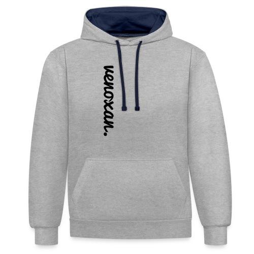 venoxan T-Shirt mit Schriftzug an der Seite - Contrast Colour Hoodie