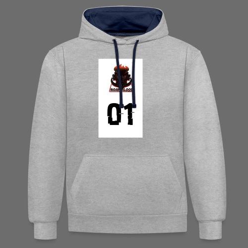 Boar blood 01 - Bluza z kapturem z kontrastowymi elementami