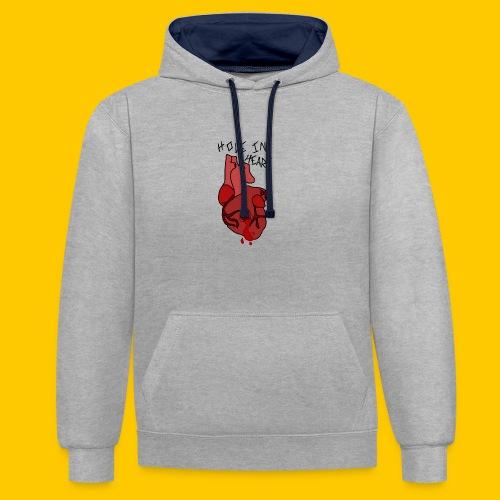 Hole.. Heart. - Contrast Colour Hoodie