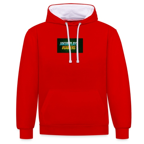merch logo - Contrast Colour Hoodie