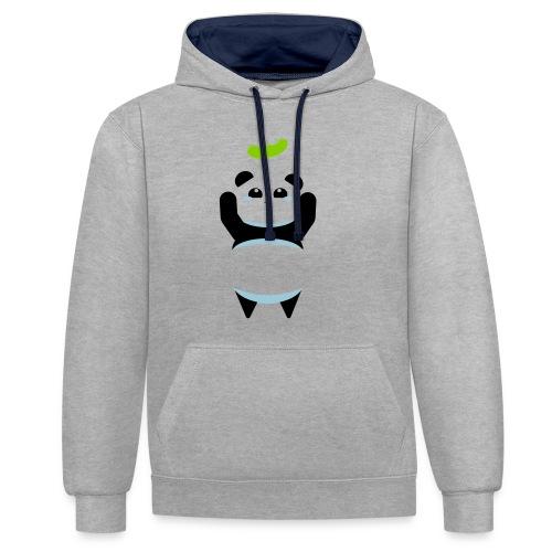 Für die Bohne Panda - Kontrast-Hoodie