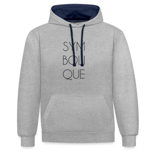 Symbolique - Sweat-shirt contraste