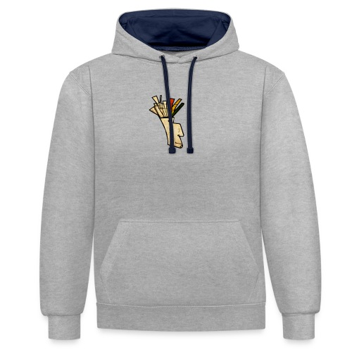Indian - Contrast Colour Hoodie