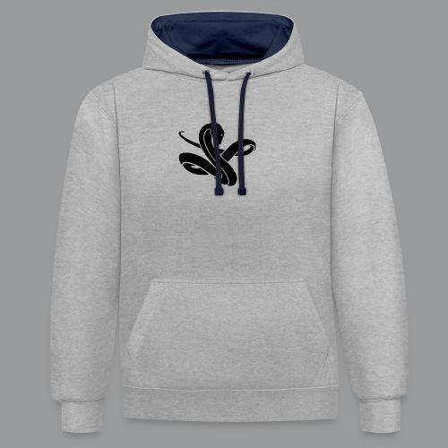 ssssnnnnaaaaaakkkeee - Contrast hoodie