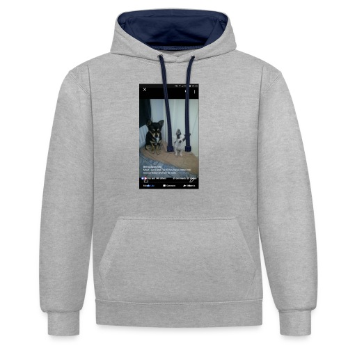 Dogs - Contrast Colour Hoodie