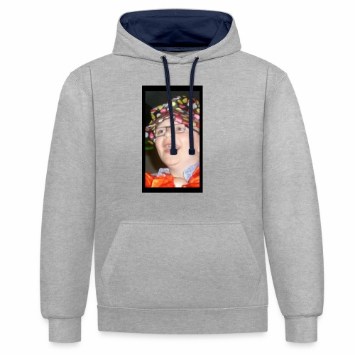 sean the sloth - Contrast Colour Hoodie