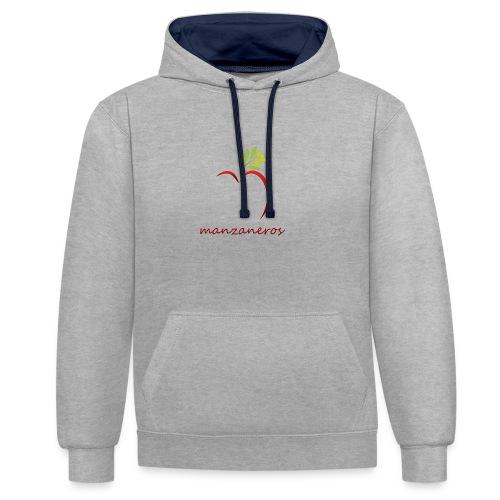 simbolo - Sudadera con capucha en contraste