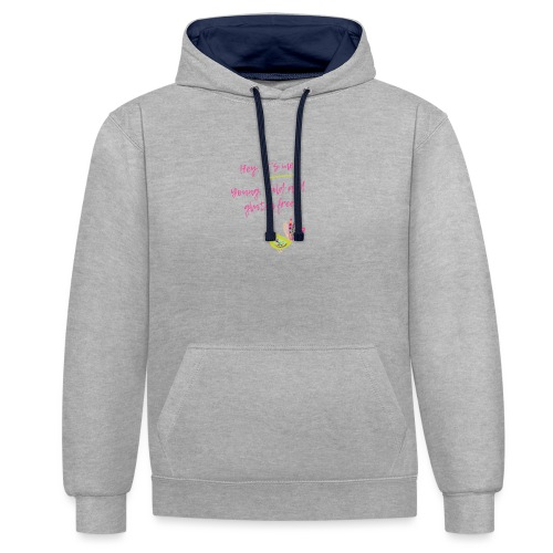 Hey it s me! Young, wild and glutenfree - Kontrast-Hoodie
