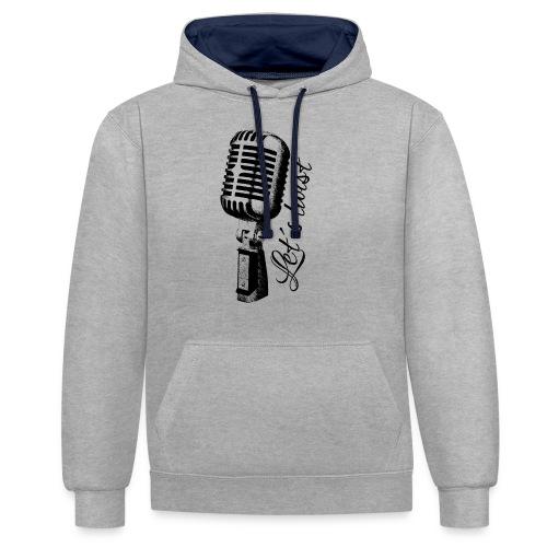 Mikrofon - Kontrast-Hoodie