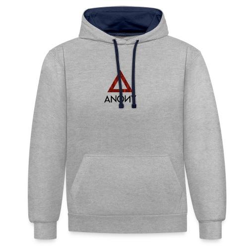 Anony Logo - Sudadera con capucha en contraste