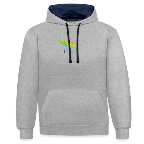 Save the whale - Contrast Colour Hoodie