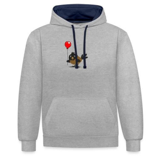 vogeltje met ballon - Contrast hoodie