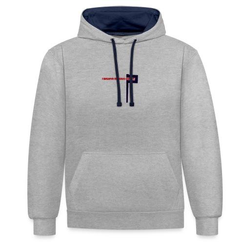 I believe in Jesus!!! - Kontrast-Hoodie