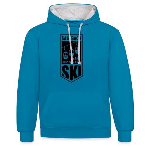 SKI embleem Saalbach - Contrast hoodie