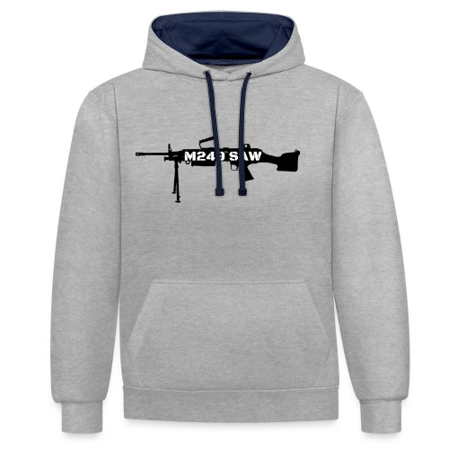 M249 SAW light machinegun design - Contrast hoodie