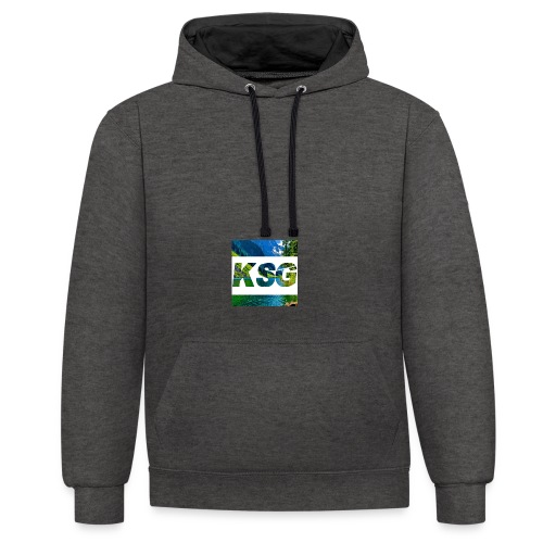 TwitchLogohfhgh - Contrast Colour Hoodie