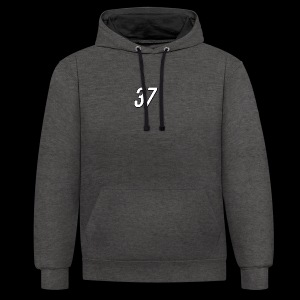 37 Apparel Small Logo Hoodie - Contrast Colour Hoodie