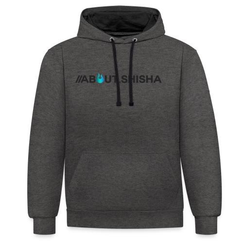 About.Shisha Schriftzug - Kontrast-Hoodie